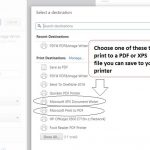 Choose a printer driver that allow you to print to PDF or XML formats