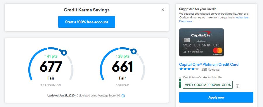 Click on the left credit score (TransUnion score)