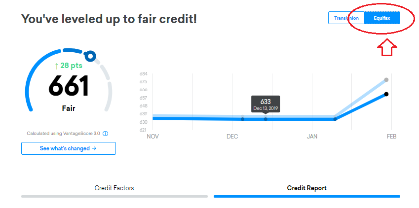 Close the report, click back on the Credit Karma tab in your browser, then click Equifax